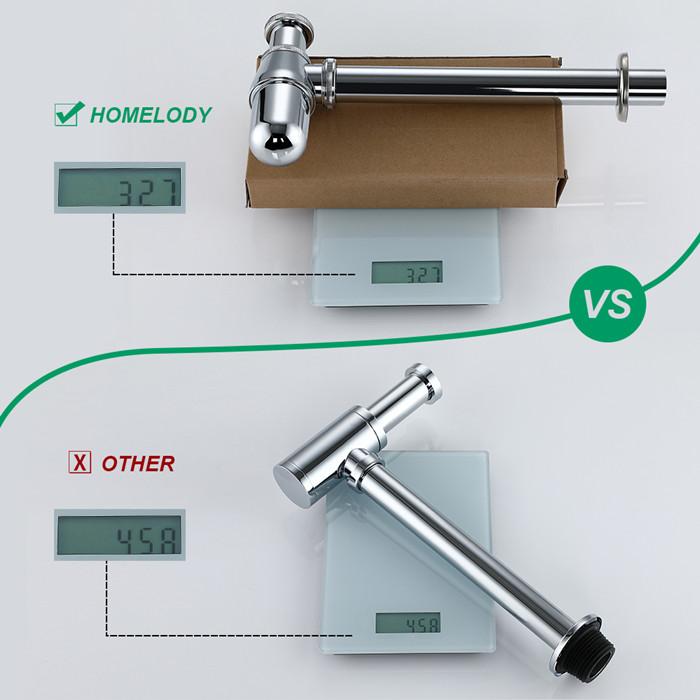 Siphon de lavabo en acier inox siphon g1-1-4\