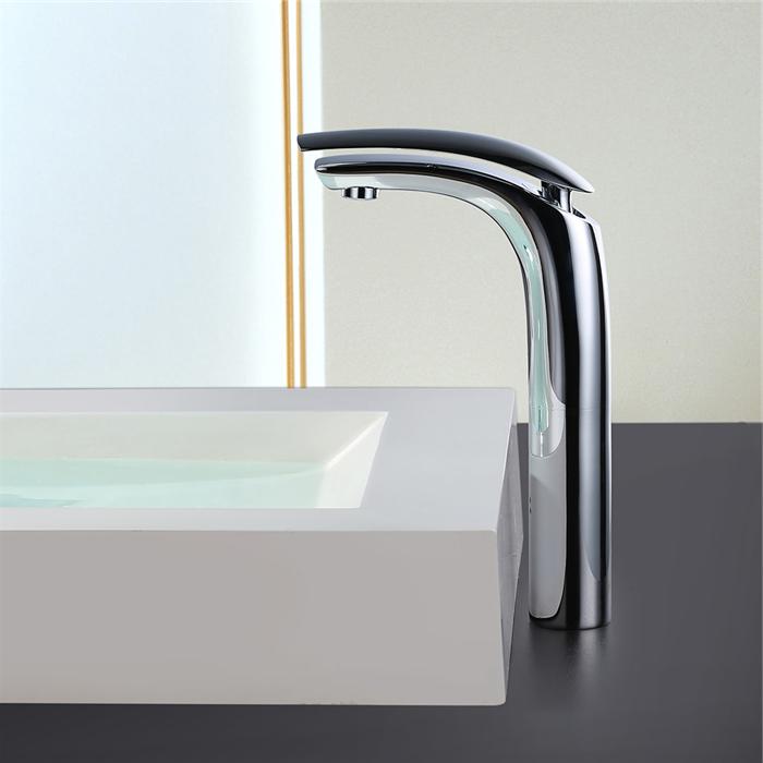 homelody robinet de lavabo mitigeur chromé pour vasque à poser ... - Robinet Haut Pour Vasque A Poser