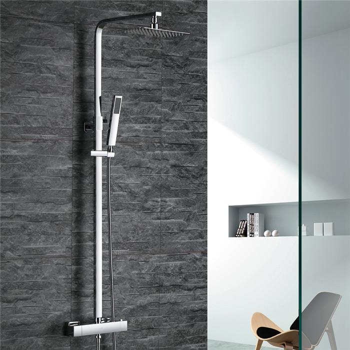 colonne de douche thermostatique chrom ultra r sistant pour salle de bain en laiton de qualit. Black Bedroom Furniture Sets. Home Design Ideas
