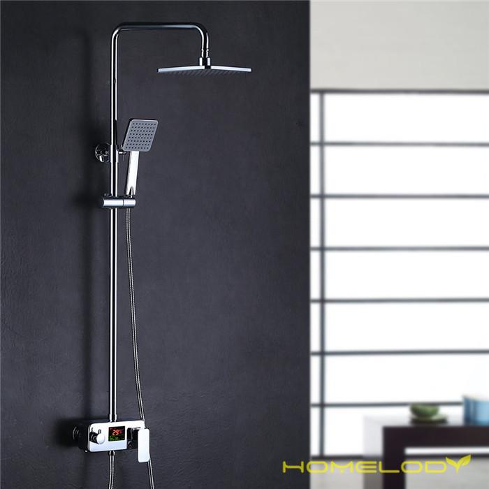 homelody colonne de douche italienne avec ecran lcd syst me de colonne pour salle de bain chrome. Black Bedroom Furniture Sets. Home Design Ideas