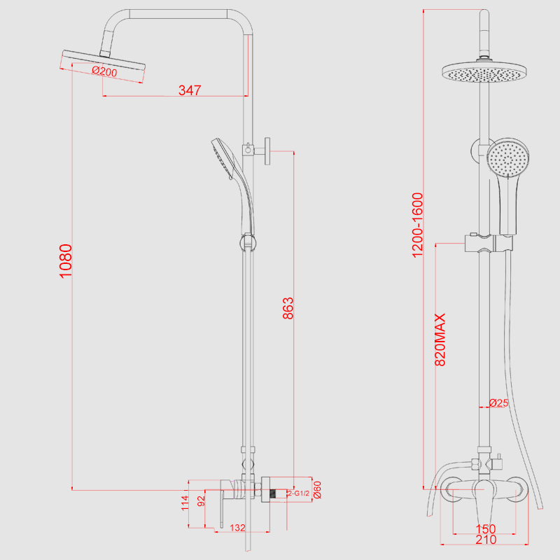 dusche komplett set walk in dusche glaswand duschabtrennung 90x200 100x200 duschkabine. Black Bedroom Furniture Sets. Home Design Ideas